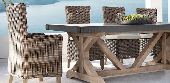 Dining Collections RH - Teak outdoor dining table