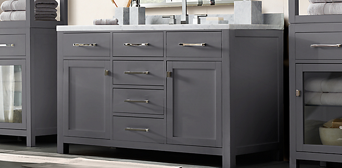 Bathroom Vanity Hardware hutton vanity bath collection - charcoal | rh