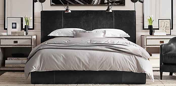 Bedroom Sets Restoration Hardware upholstered & custom bed collections | rh