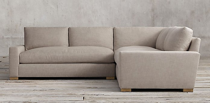 Restoration hardware sectional sofas sectional collections for Small sectional sofa restoration hardware