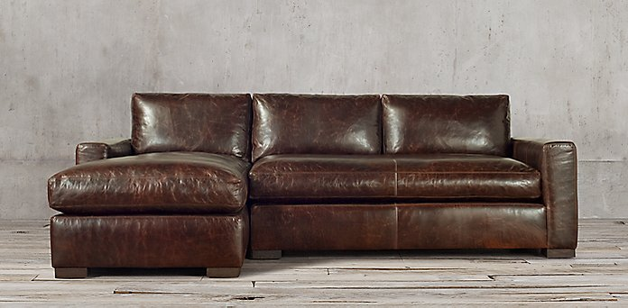 Maxwell Leather Sectionals | RH