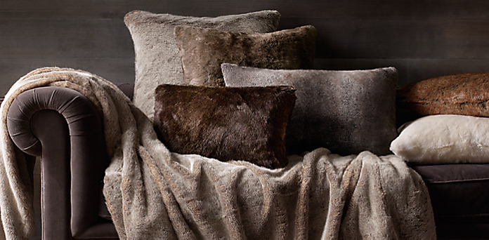 Luxe Faux Fur Pillow Cover Collection Rh