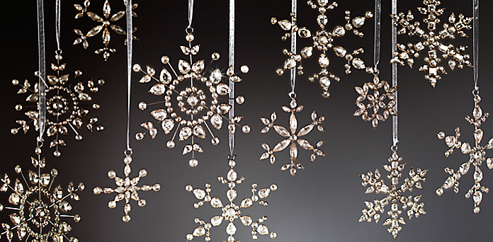 Resources - Snowflake Glass Ornaments RH