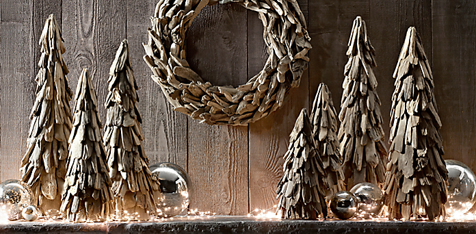natural driftwood tree wreath collection