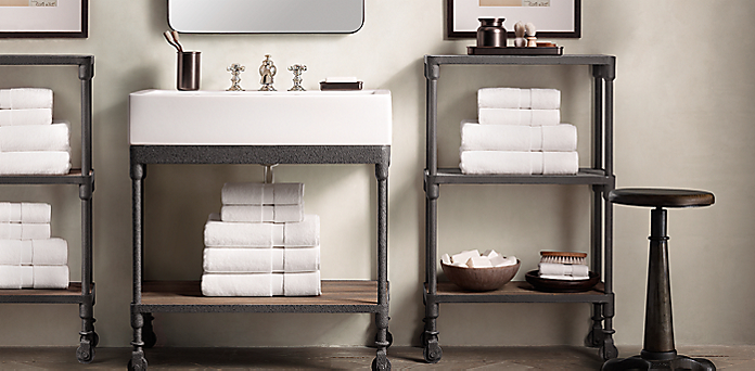 Dutch Industrial Bath Collection Weathered Zinc