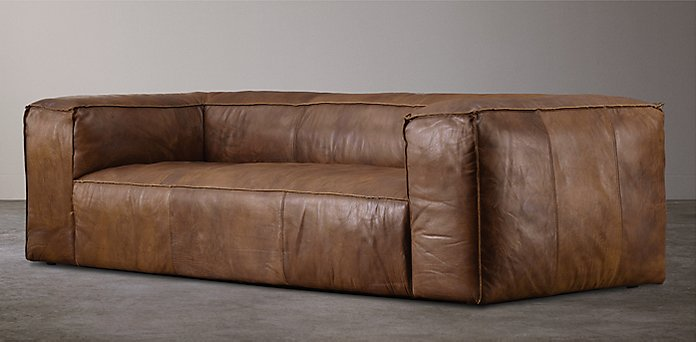 Restoration Hardware Leather : Restoration hardware leather sofa knockoff knockout