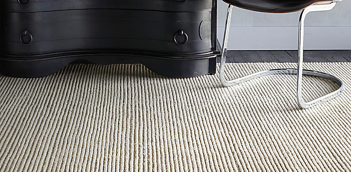 ribbed distressed wool rug collection | rh