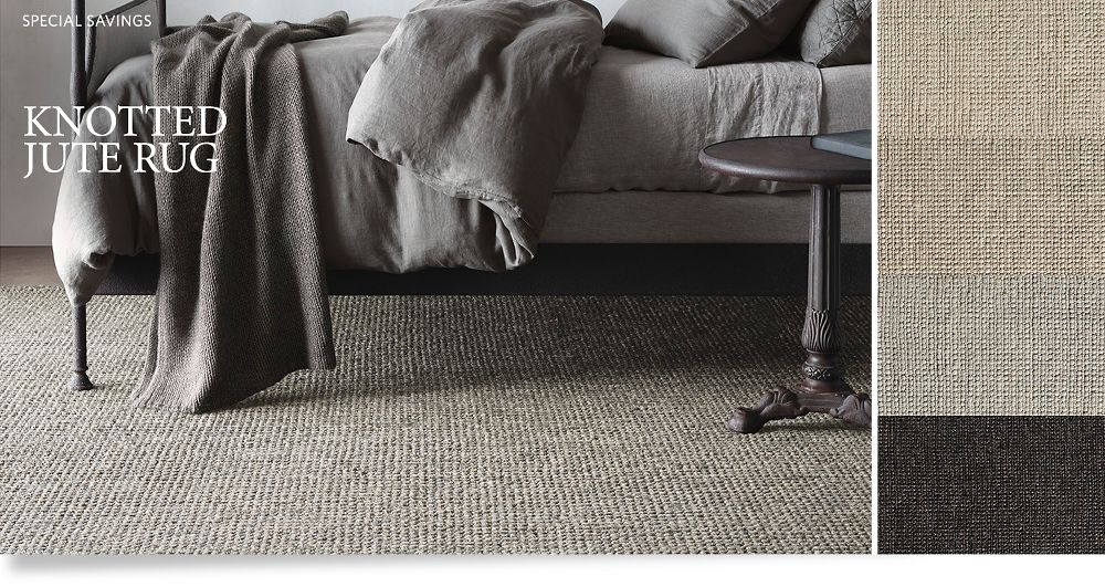 Natural Hide Sisal Rug : Knotted Jute