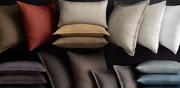 Belgian Linen Pillows Rh
