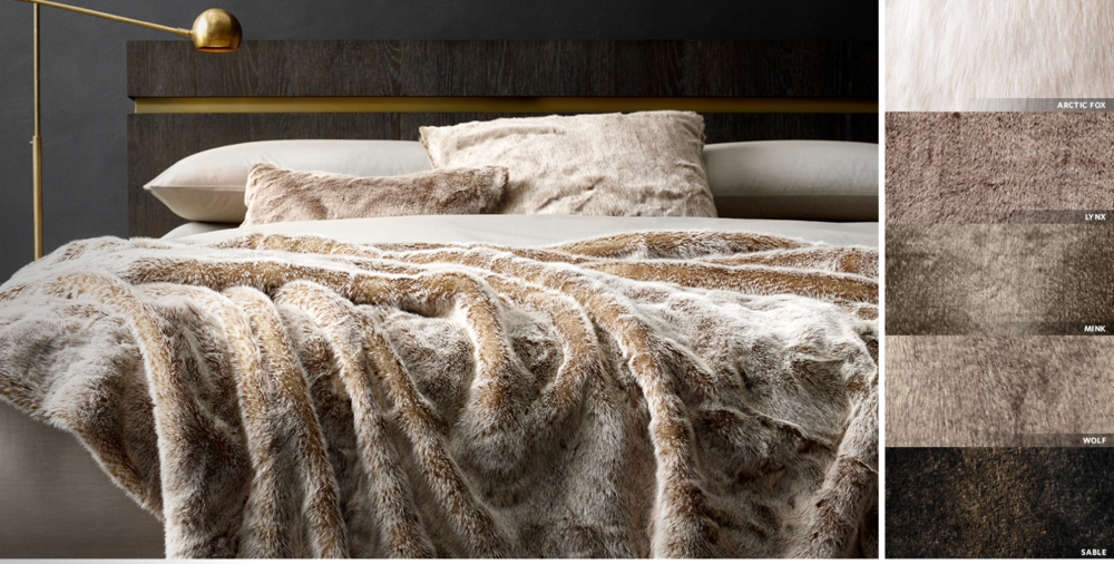 Interior Fur Bed Sheets all faux fur rh luxe oversized bed throw free shipping