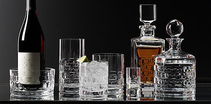 madison cut crystal barware collection | rh