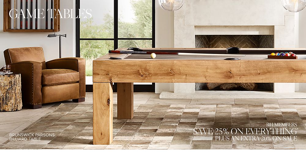 Game Tables RH - Restoration hardware pool table