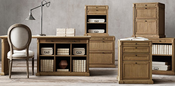 Library Collection Weathered Oak Drifted Rh
