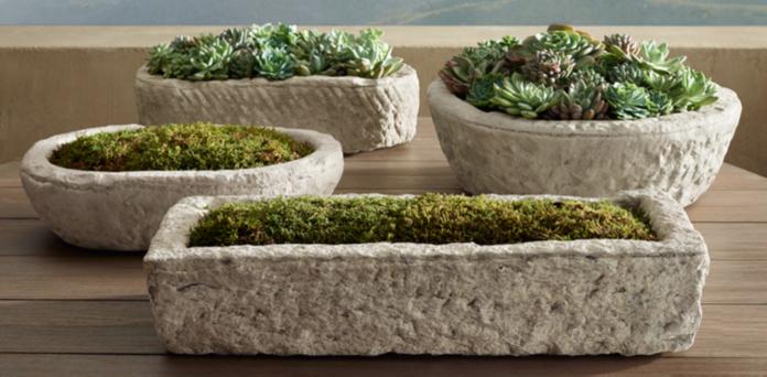 Super Cast Stone Planters   RH PE86