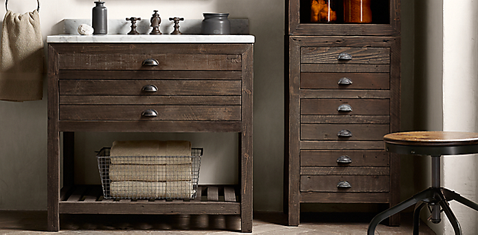 Printmaker S Bath Collection Espresso Pine Restoration