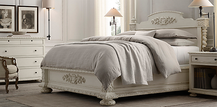 Bedroom Sets Restoration Hardware french empire collection - antiqued white | rh