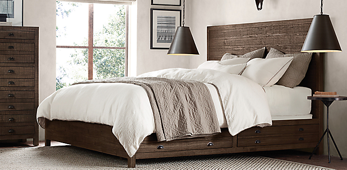 printmaker 39 s bedroom collection espresso pine restoration hardware