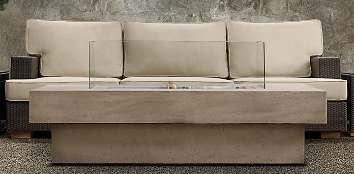 Fire table collections restoration hardware for Concreteworks fire table