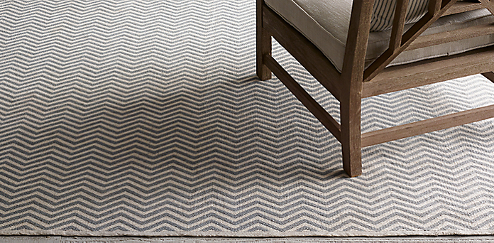 Chevron Flatweave Outdoor Rug Collection Rh