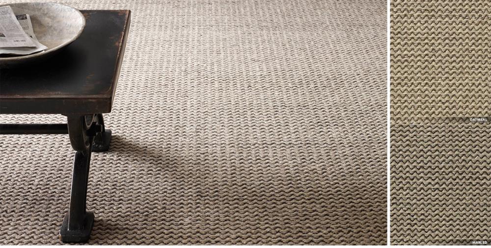 Raised Zigzag Wool Rug