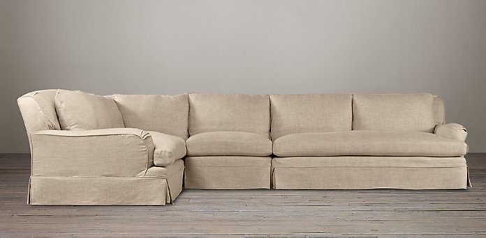 Belgian Clic Roll Arm Available Slipcovered Sectionals Rh