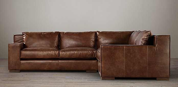 Distressed Leather Sectional Sofa Excellent Decor Of