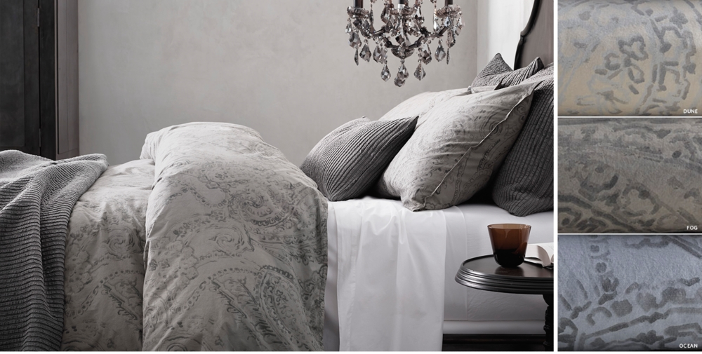 garment dyed percale paisley bedding collection free shipping - Restoration Hardware Bedding