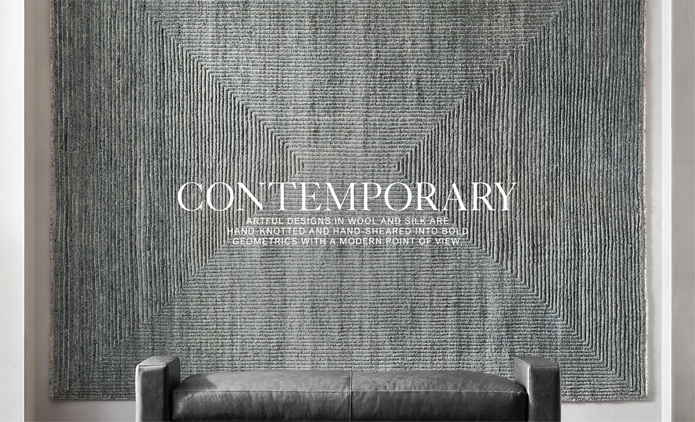 Contemporary Rugs Rh