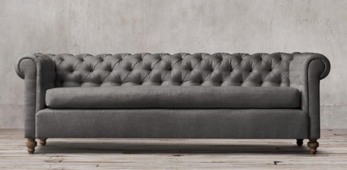 19th C Chesterfield Rh Restorationhardware Com Yellow Sofa Restoration Hardware Kensington