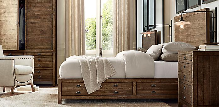 Printmaker S Bedroom Collection Antiqued Pine Rh