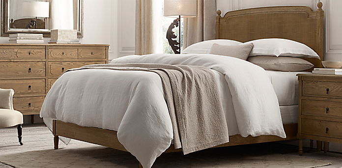 Vienne Caned Bed Collection Weathered Oak Drifted Rh