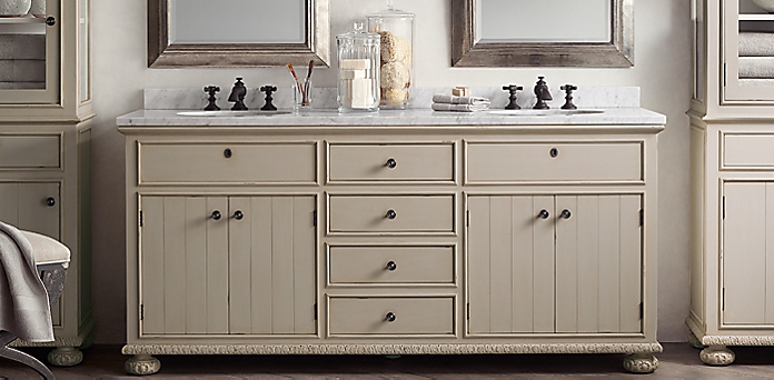French Empire Bath Collection Antiqued Taupe