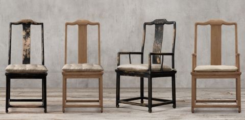 Superbe 17th C. Chinese Scholaru0027s Chair Collection