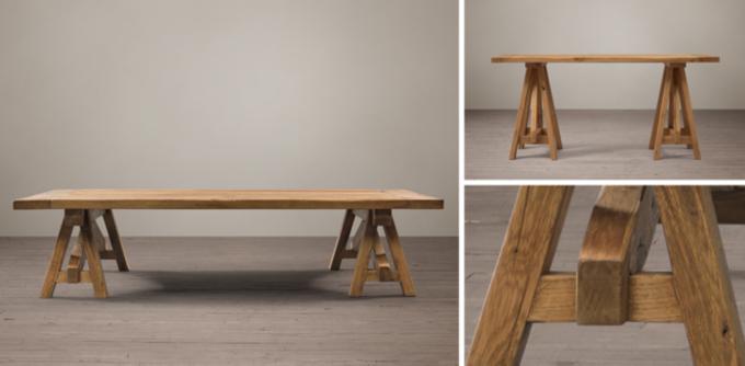 Image Gallery Sawhorse Furniture