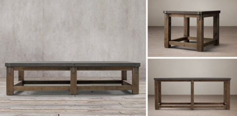 Charmant Reclaimed Wood U0026 Zinc Top Collection