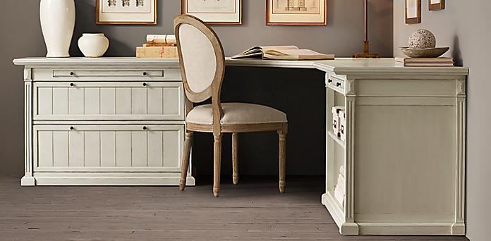 Distressed White Desk Home Ideas