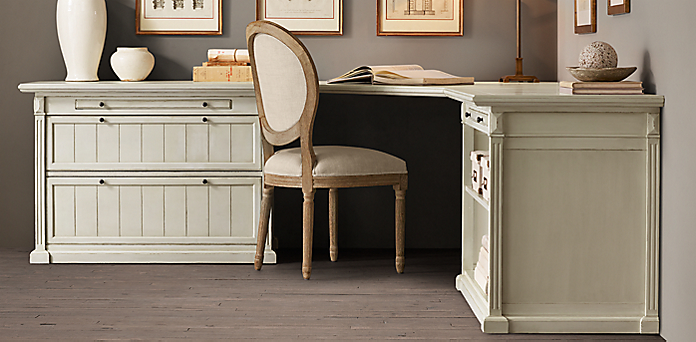 Distressed White Desk Home Ideas