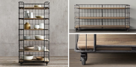 Bakers' rack, via Restoration Hardware