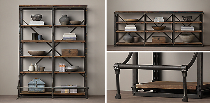 French Library Collection - Shelving & Cabinet Collections RH