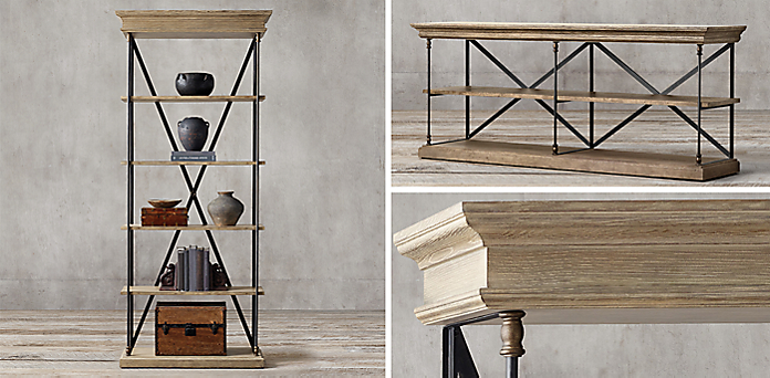 Parisian Cornice Collection - Shelving & Cabinet Collections RH
