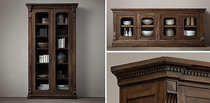 St. James Glass Collection - Shelving & Cabinet Collections RH