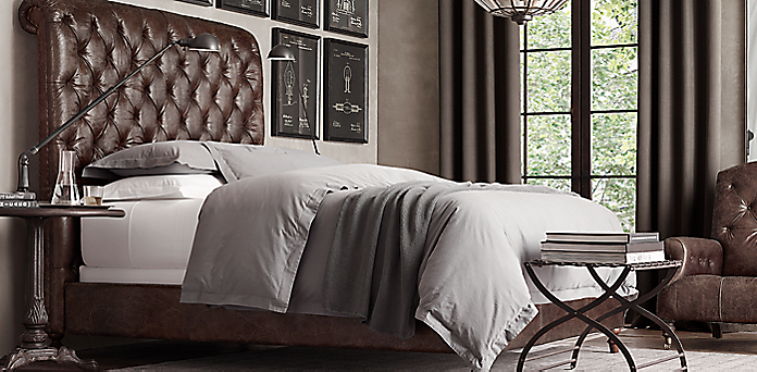 Upholstered & Custom Bed Collections   RH