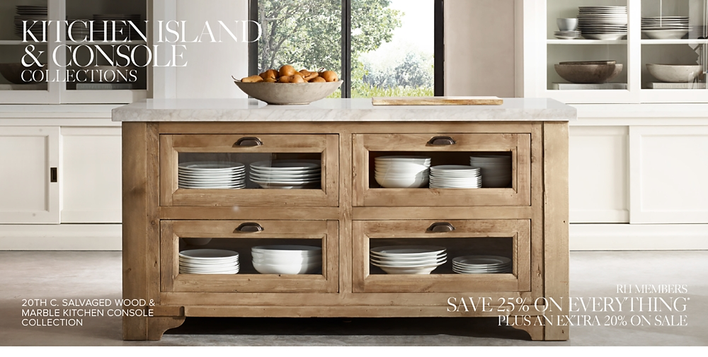 Kitchen Island Amp Console Collections Rh