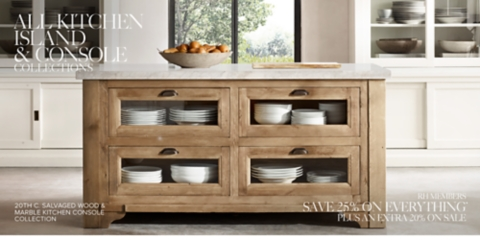 Kitchen island for sale Reclaimed Wood Shop Kitchen Table Collections Restoration Hardware Kitchen Islands Consoles Rh