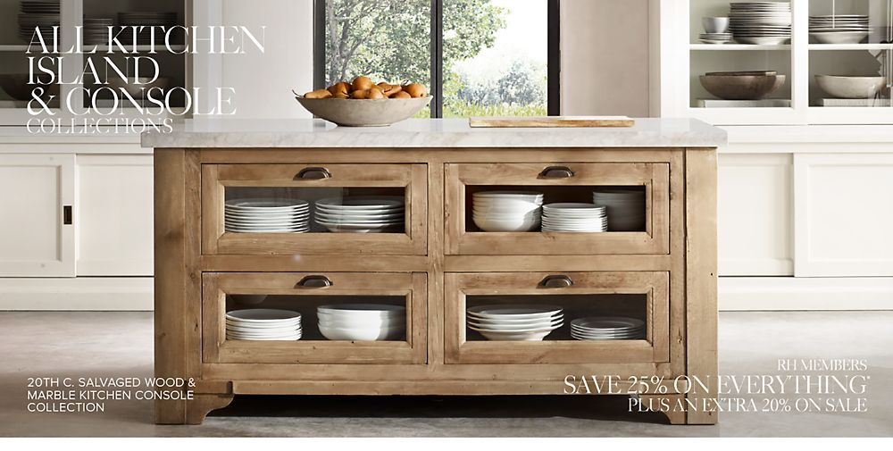 All Kitchen Islands & Consoles RH