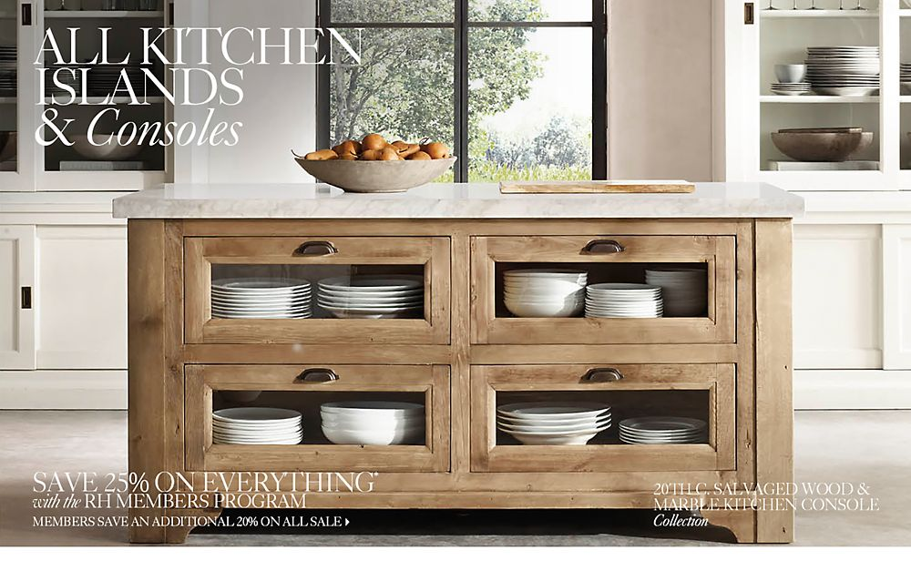 Kitchen Island Console Collections Rh