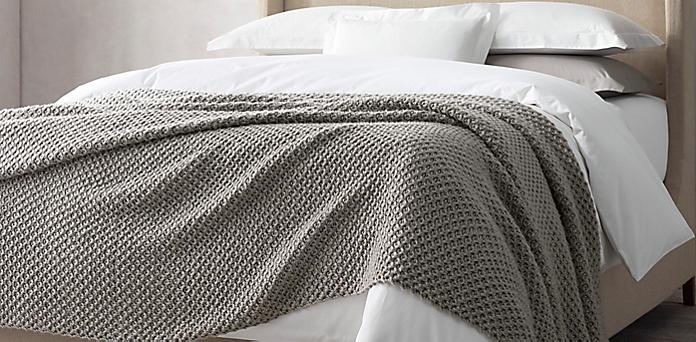 Oversized Bed Throws Amp Blankets Restoration Hardware