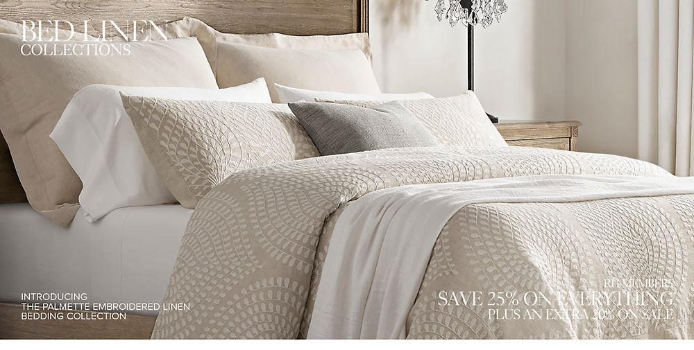 Shop Bed Linen Collections. The Finest Linens are Made in Italy.