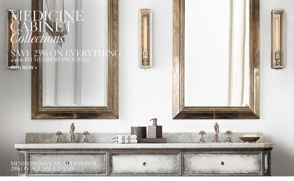 medicine cabinets  rh, Bathroom decor