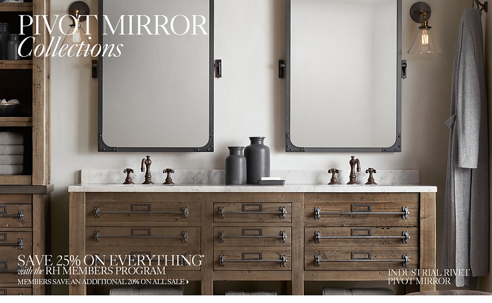 Bathroom Mirror Pivot pivot mirrors | rh